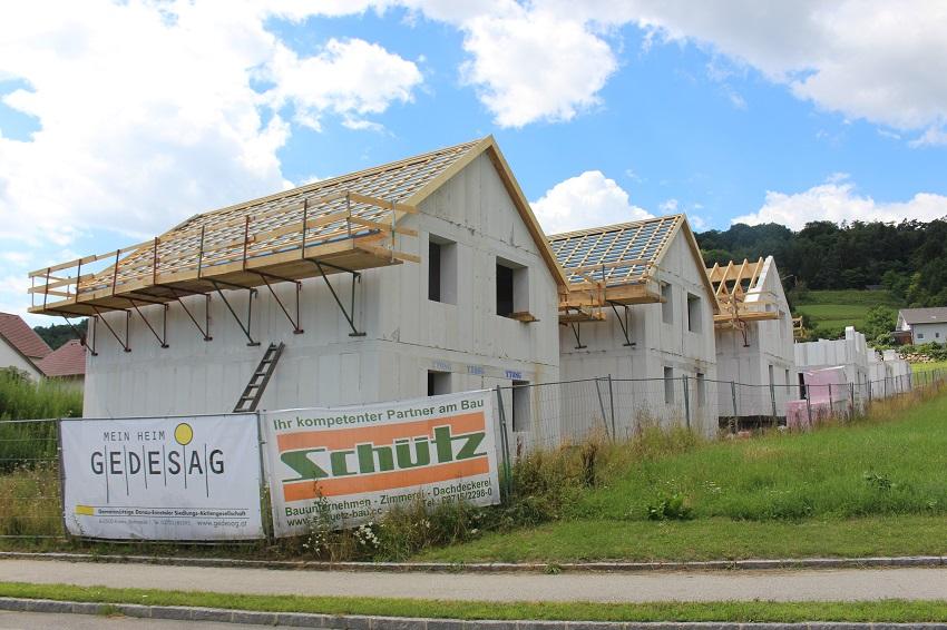 Neubau einer Reihenhausanlage in Mauer
